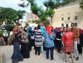 """بالصور.. احتفالية اليوم العالمى """"للعصا البيضاء"""" للمكفوفين بجامعة القاهرة"""