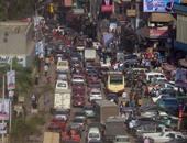"""توقف حركة المرور بسبب تصادم سيارتين بطريق """" السنطة - طنطا """""""