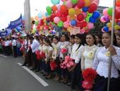 الحرية للجدعان.. بالونات وورود وشوارع نظيفة فى احتفال كمبوديا بالاستقلال عن فرنسا