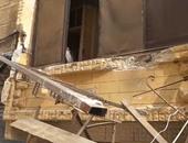 انهيار بلكونة وحريق برج حمام بدمياط دون خسائر بشرية