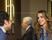 الملكة رانيا تستقبل المحامى الدولى خالد أبو بكر على هامش مؤتمر دافوس