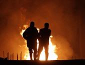 مصرع 3 وإصابة 4 فى حريق هائل بمصنع طوب فى زفتى بمحافظة الغربية
