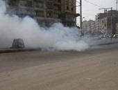 طلقة غاز خرجت من سلاح مجند بالخطأ تسير الفزع بمجمع محاكم الإسماعيلية