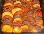 طريقة عمل سريعة لصينية البطاطس بالكفتة