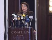 وزيرة التضامن: التمكين الاقتصادى للمرأة لن يتحقق بصنع المفارش والملايات