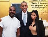 """كيم كارديشان تنشر صورة تجمعها وزوجها مع """"أوباما"""" على """"إنستجرام"""""""