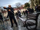 إزالة أثار تفجير اسطنبول الانتحارى