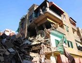 بالصور.. انهيار عقار مكون من 4 طوابق بالشرابية دون وقوع إصابات