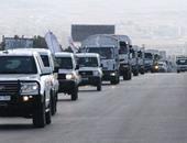 إصابة شخص إثر تعرض قافلة مساعدات لإطلاق نار فى ريف دمشق