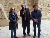 بالصور.. سفير أوزبكستان بمصر يتفقد المعالم الأثرية بالبر الغربى بالأقصر