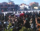 الآلاف من أهالى الباجور بالمنوفية يشيعون جنازة شهيد العريش