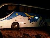 الداخلية: اصطدام أتوبيس يقل 4 سائحين بعمود إنارة بالأقصر دون إصابات