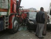 مصرع 6 أشخاص وإصابة آخرين فى حادث تصادم سيارتين بصحراوى الإسكندرية