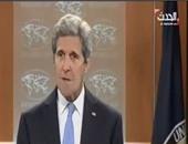 كيرى: هناك حوار جيد بين أمريكا وروسيا بشأن الأزمة الراهنة فى سوريا