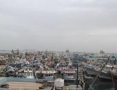 إغلاق ميناء الصيد بالبرلس بكفر الشيخ بسبب سوء الأحوال الجوية