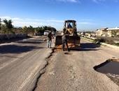 طرق المنوفية تعلن رصف طريق مدخل سدود بتكلفة  300 ألف جنية
