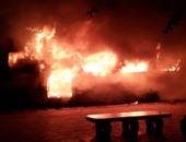 اشتعال النار فى عربتين بقطار إسكندرية بورسعيد داخل محطة ميت غمر