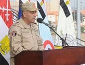 رئيس أركان القوات المسلحة يراجع خطط تأمين المجرى الملاحى لقناة السويس