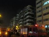 5 سيارات إطفاء تحاول السيطرة على حريق هائل بمصنع حلويات بالعاشر من رمضان