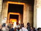 تعامد الشمس على معبد قصر قارون بالفيوم
