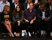 """بالصور..أمير بريطانيا وزوجته فى مباراة بدورى السلة الأمريكى بحضور """"بيونسيه"""""""