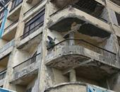 انهيار جزء من عقار قديم شرق الإسكندرية دون وقوع إصابات