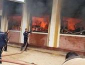 إخماد حريق داخل مدرسة بشارع الهرم بدون إصابات