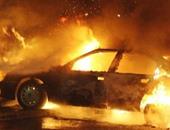 """السيطرة على حريق سيارة نقل على طريق """"الفيوم الصحراوى"""""""