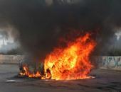 شاب يشعل النار فى سيارة والده احتجاجا على زواجه الثانى بالمنيا