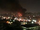 نفوق 11 حمارًا فى حريق مخزن بوتوجاز بعين شمس