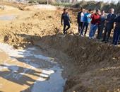 محافظ السويس يتابع سحب المياه إلى مصرف يوسف السباعى بحى فيصل