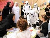 """قوات الصدمة فى """"حرب النجوم"""" يزورون أطفال مرضى بأبو ظبى"""