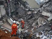 فقدان 32 شخصا وإنقاذ 15 آخرين بسبب انهيار أرضى بالصين