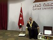 عناصر الإخوان تحتفى برفع أردوغان شارة رابعة خلال زيارته إلى قطر