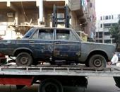 مرور الجيزة يرفع 11 سيارة ودراجة بخارية متروكة فى حملات بشوارع المحافظة