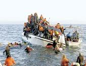 مصرع 100 مهاجر فى تحطم قوارب متجهة من ليبيا لإيطاليا مطلع الأسبوع