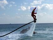 """""""صحافة المواطن""""..بالصور..بابا نويل يطير على الماء لتشجيع السياحة فى الغردقة"""