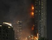 """بالفيديو.. نشطاء يشاركون فيديوهات حريق فندق """"أدرس"""" بـ """" دبى """""""