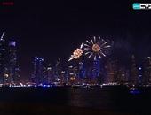 بالفيديو.. احتفالات مبهرة فى محيط برج خليفة احتفالا بالعام الجديد