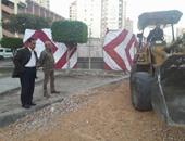 """""""صحافة المواطن"""": بالصور..عمليات توسعة لميدان سيدى بشر بحرى بالإسكندرية"""