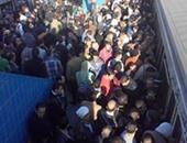 صحافة المواطن.. بالصور.. استئناف حركة مترو شبرا الخيمة بعد توقفها لعطل فنى