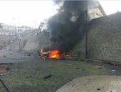 إصابة 5 أشخاص بينهم مسئول أمنى فى انفجار سيارة مفخخة جنوب اليمن