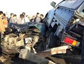"""""""صحافة المواطن"""" بالصور.. تصادم عدد من السيارات بطريق مصر- الإسماعيلية"""