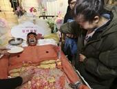 أغرب تورتة فى العالم..صينيون يبتكرون كعكة على شكل جسد بشرى مخيف