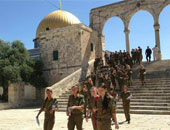 15 مصابا فى اشتباكات بين قوات الاحتلال والمصلين فى باحات المسجد الأقصى