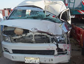 مصرع وإصابة 6 أشخاص فى حادث تصادم على الطريق الصحراوى الغربى بأسيوط