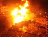 """حريق يدمر محطة للوقود شرقى مدينة """"مزدة"""" الليبية"""