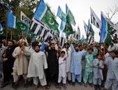 متظاهرون يطالبون الحكومة الباكستانية باتخاذ إجراءات ضد مدانين بازدراء الأديان