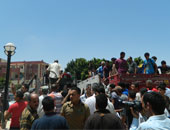 """تشييع جثمان أحد ضحايا أحداث """"استاد الدفاع الجوى"""" بكفر الشيخ"""