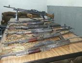ضبط 18 قطعة سلاح نارى بدون ترخيص فى حملة أمنية بالمنيا